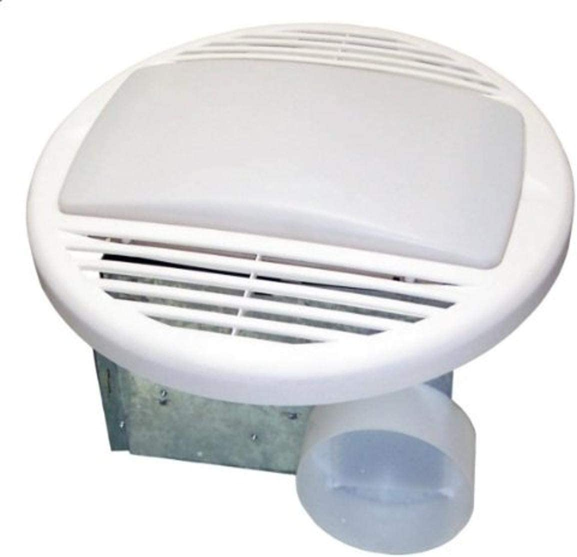 Universal Security Instruments Bathroom Exhaust Fan with Custom-Designed Motor and 100-Watt Lamp, 70 CFM, Model BF-704L
