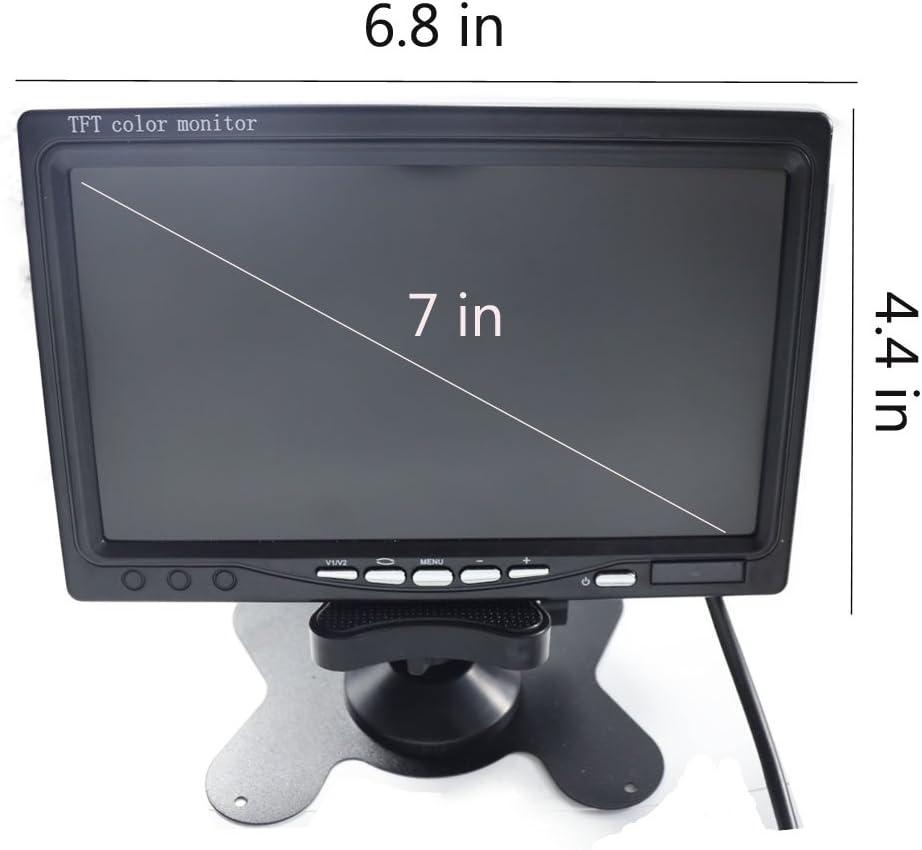 【 Summdey 】7 Pouces en Couleur Moniteur 2 RCA AV Entr/ée vid/éo et Haute R/ésolution TFT LCD avec T/él/écommande et Support de Montage