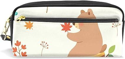 Estuche para lápices con diseño de oso para estudiantes, estuche para lapiceros, bolsa para la escuela, oficina, organizador de almacenamiento: Amazon.es: Oficina y papelería