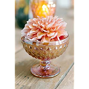 """Copper Luster Glass Dove Compote 5"""" - Excellent Home Decor - Outdoor Indoor 1"""