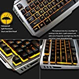 Orange Gaming Keyboard Mouse Combo Wired,Color