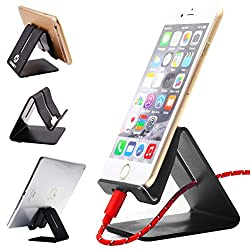 Brand: Honsky®  Name: Aluminum Matte Stand  Color:  Black Color  Material:  Aluminum Alloy   Packing List:   1 * Honsky®Aluminum Matte Stand   Specifications:  - Size: 76mm(H) x 64mm(W)x77mm(L)  - Weight: 104 G.   Compatibility:   -Apple: iPhone 5S/5...