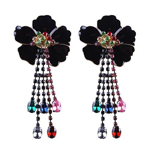 Jewelry Studs Spinning (earrings flowers long claw chain tassel earrings alloy ear studs)