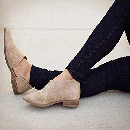 Nude Lässig Mode Ronamick Schuhe Keilabsatz Damen Frauen Flache Damen Grau Schuhe Sandaletten Sandalen Pantoletten Spitz Frühling 5qvwA1YH