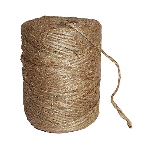 BestTiers 440 Ft Brown Natural Twine Jute Rope 2 Ply Twisted String for Bird, Parrot Toy Craft, Gift Wrapping, DIY Art