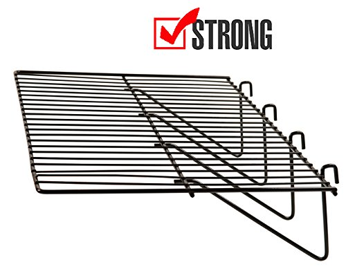 Gridwall Panel Display Shelf - Only Garment Racks - Clothing Display Rack Grid, Heavy Duty Shelves, 12