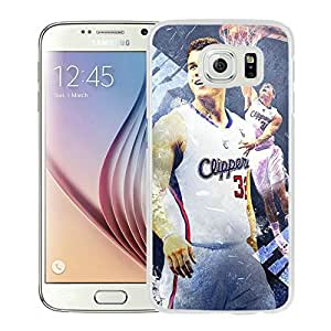 New Custom Design Cover Case For Samsung Galaxy S6 LA Clippers Blake Griffin 4 White Phone Case