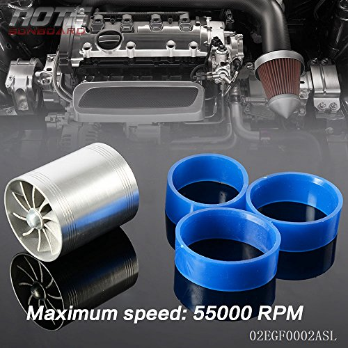 Supercharger Turbo - Universal Fit Turbo Double Fan Air Intake Fuel Saver Fan Turbo Supercharger