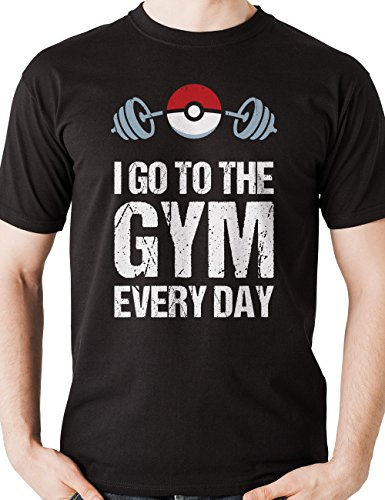 - Pokemon Shirt I Go To The Gym Every Day T-Shirt Pokemon Go Gift Funny Pokeball Birthday Shirt