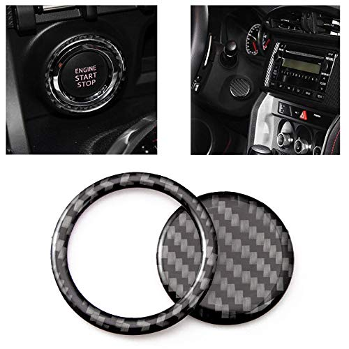 Xotic Tech Carbon Fiber Car Engine Start Stop Button Trim Decor Cover Sticker for Subaru BRZ Toyota 86