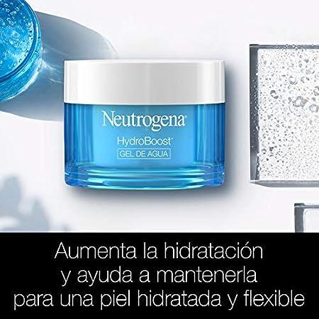 Neutrogena Hydro Boost Gel de Agua, Crema Hidratante Facial para Pieles Normales y Mixtas con Ácido Hialurónico, 2x50 ml