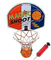 Liberty Imports Magic Shot Mini Basketball Hoop Set with Ball and Pump