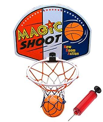 "16"" Magic Shot Mini Basketball Hoop Set with Ball and Pump"