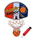16' Magic Shot Mini Basketball Hoop Set with Ball...