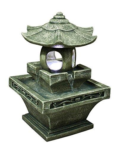 Green Japanese Pagoda Lantern Fountain