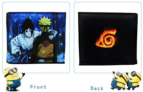 Petty Cabin Japanese Anime Naruto Wallet Uzumaki Naruto Sasuke Uchiha Cosplay Purse Wallet