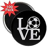 CafePress - Love Soccer - 2.25'' Magnet (100 pack)