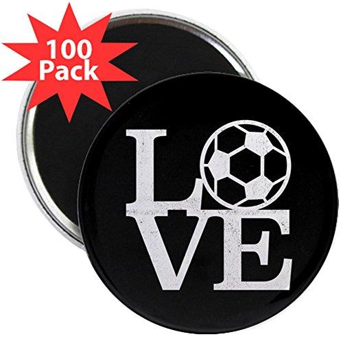 CafePress - Love Soccer - 2.25'' Magnet (100 pack) by CafePress