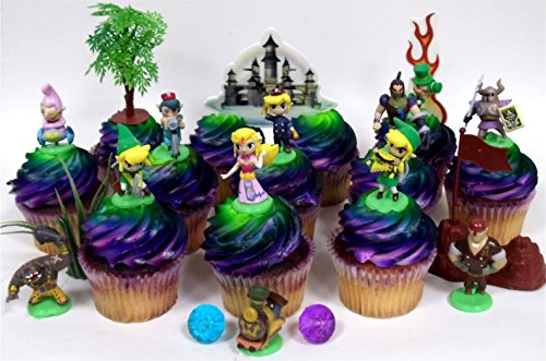 Legend Of Zelda Birthday CUPCAKE Topper Set Featuring Link Phantom Bryne Anjean Chancellor Cole Big Blin Alfonzo Ferrus Spirit Train
