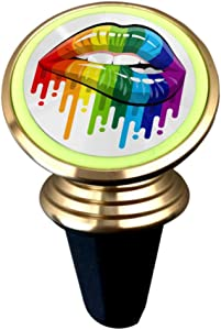 Car Magnetic Mobile Phone Holder 360 ° Rotating Light Car Dashboard Bracket Open Mouth Rainbow Color Paint Flow Equipped with Super Magnet Car Phon