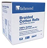 Richmond Dental & Medical 201226 4'', Medium Braided Cotton Roll, Nonsterile