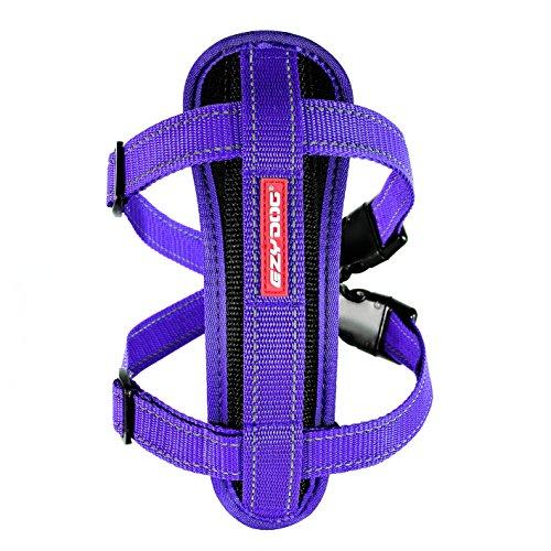 EzyDog Chest Plate Custom Fit Dog Harness (Medium, Purple) (Ezy Harness)