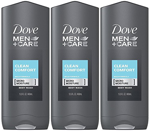 Gel Liquid Cleanser - Dove Men + Care Body & Face Wash, Clean Comfort 13.50 oz ( Pack of 3)