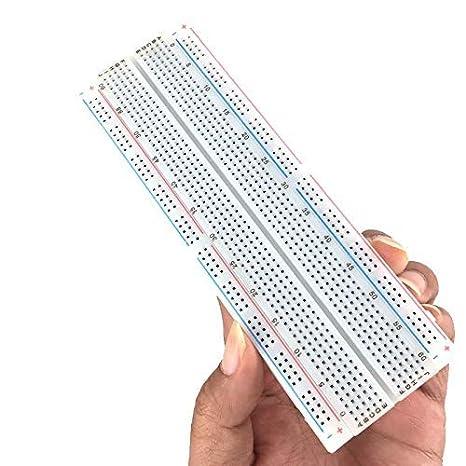 MCIGICM 10pcs Breadboard 830 Point Solderless Prototype PCB Board Kit  Protoboard MB-102 for Arduino DIY Electronics kit