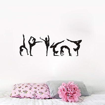 Six Dance Girl Yoga gymnastics Wall Decal Grils Gymnastics Dancing