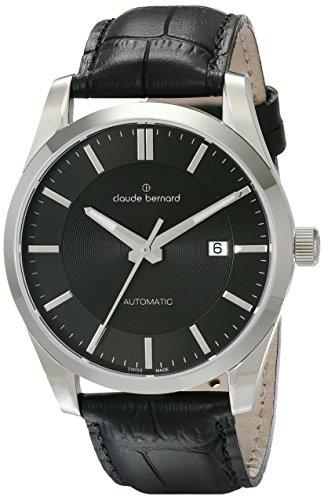 Claude Bernard Men's 80092 3 NIN2 Classic Automatic Analog Display Swiss Automatic Black Watch