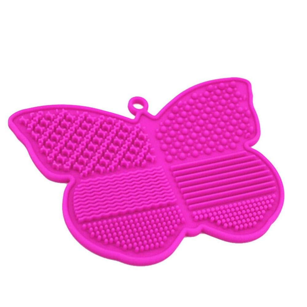 Lannmart Butterfly Silicone Brush Cleaner with Sucker Washing Brush Gel Cleaning Mat Foundation Makeup Brush Cleaner Pad