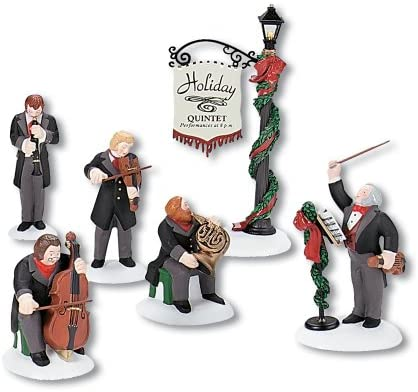 Department 56 Dickens Village Holiday Quintet Accessory Figurine Set of 6