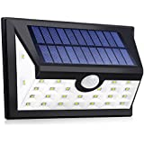 Solar Lights,Dolucky Garden Lights Outdoor Waterproof with Motion Sensor and Wide Lighting Angle, Auto ON and Off When Dusk and Dawn, Easy Install and Used for Backyard Wall Garden Patio and Pathway