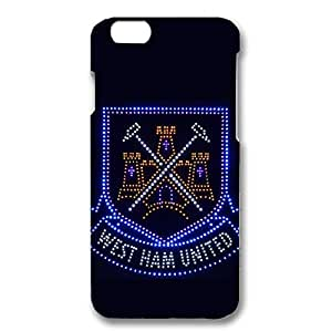 Bling West Ham United Football Club Logo Design 3D Hard Plastic Case Cover For Iphone 6