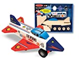 Melissa & Doug Decorate-Your-Own Wooden Jet Plane Craft Kit