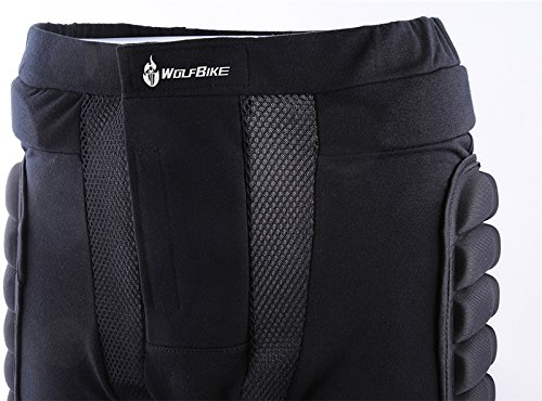West Biking 3D Padded Hip Protective Shorts Butt Impact Protection Pad for Ski Skate Snowboard Skating Skiing Hockey Riding Roller Derby Adult Kids
