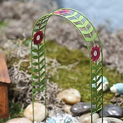 Studio M Painted Metal Decorative Garden Arch for Fairy Garden Decorative Bench: Toys & Games