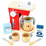 Wood Eats! Good Mornings Coffee Maker Playset with Milk and Sugar...