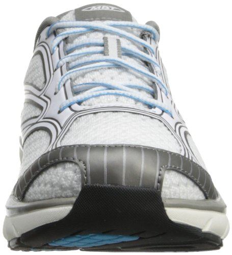 MBT Women's Afiya Lace Athletic Shoe White/Silver/Horizon Blue 6XhiYDT