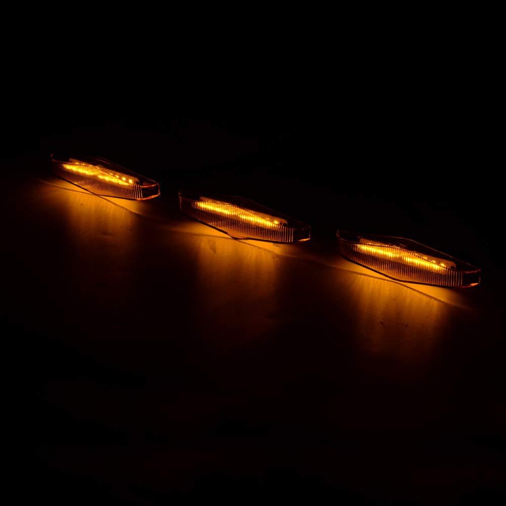 runmade for 2014 2015 2016 2017 2018 2019 4Runner TRD PRO 3Pcs Front Bumper Center Grille Grill LED Lights Amber Yellow Lighting