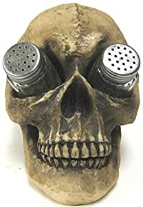Creepy Human Skull Salt & Pepper Shaker Set by World Of Wonders