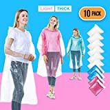 Rain Ponchos for Adults Disposable - 10 Pack Bulk Extra...