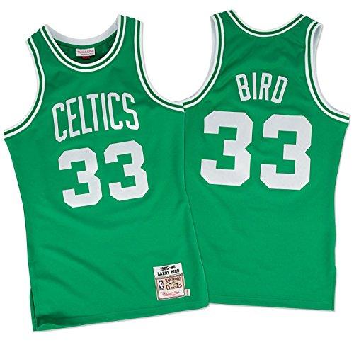 NBA Mitchell & Ness Boston Celtics #33 Larry Bird Green Authentic Throwback Jersey (48)