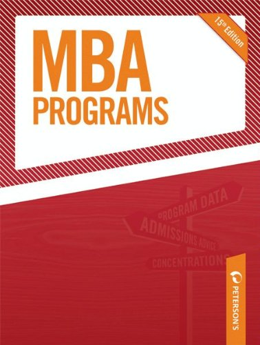 MBA Programs 2010 (Peterson's MBA Programs)