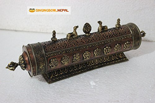 Artistic 14'' Traditional Metal Incense Burner on Stand From Nepal