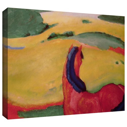Franz Marc's Horse In A Landscape, Gallery Wrapped canvas 24x32 Franz Marc Deer