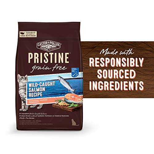 Castor & Pollux Pristine Wild-Caught Salmon Recipe Dry Cat Food, 10 Lb (Organix Cat Food)