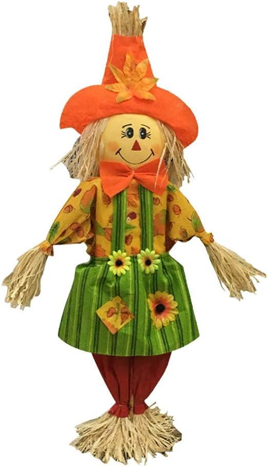 HEALLILY Halloween muñeca otoño Ornamento Columpio Colgando espantapájaros decoración Suministros: Amazon.es: Jardín