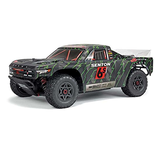(Arrma AR102673 ARRMA Senton 6S BLX 4WD Electric RC RTR Super Duty Short Course Truck with 2.4Ghz Radio, Servo, ESC, Black/Green, 1: 10 Scale)