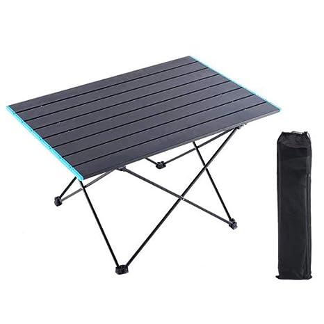 ZMJY Mesa Plegable para Acampar, Mesa de Picnic al Aire Libre ...